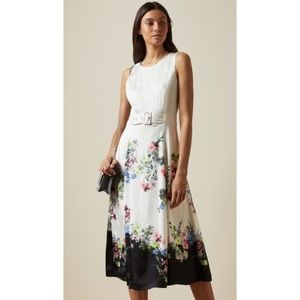 Ted Baker Camylle Pergola Midi Dress Fit and Flare